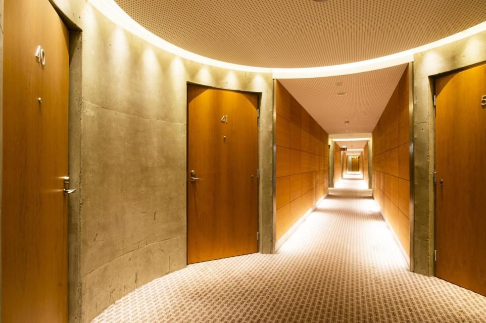 View of the hallway
