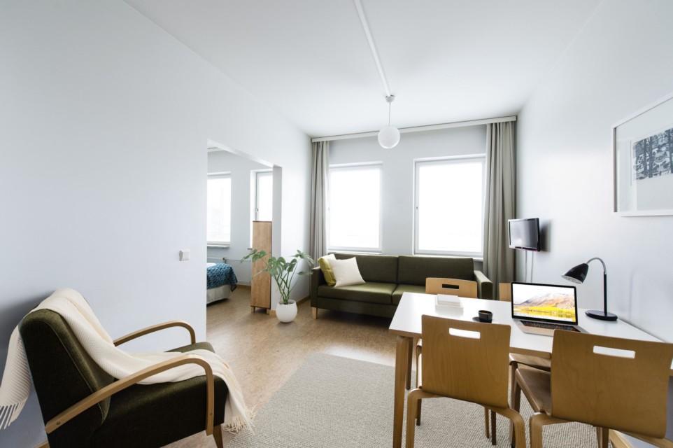 Unihome - Töölö Tower - Kalustettu asunto 1mh, 46 m2